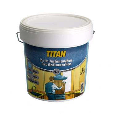 Titan  antimanchas h24 blanco mate    4l